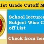RPSC 1st Grade All Subject Cut off Marks
