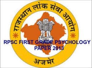 Rpsc First Grade psychology